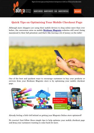 Quick Tips on Optimising Your Mobile Checkout Page