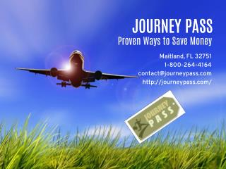 Journey Pass Travel Discount Tips