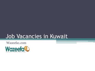 Latest Job Vacancies in Kuwait