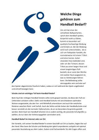 Handball Bedarf