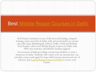 Best Mobile Repair Courses in Delhi