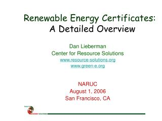 Renewable Energy Certificates: A Detailed Overview