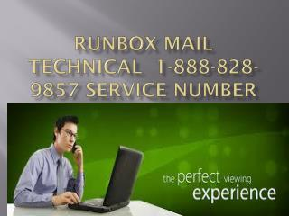 Runbox mail technical 1-888-828-9857  support number