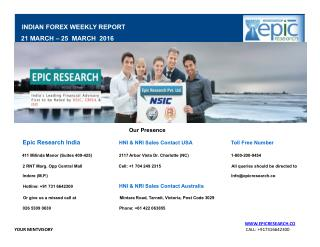Epic Research Weekly Forex Report 21 March 2016