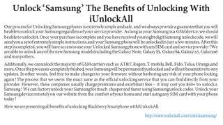 Unlock Samsung With iUnlockAll & Its Benefits of Unlocking