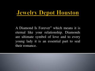 Ultimate Symbol Of Love - Diamond Rings Houston