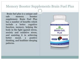 Memory Booster Supplements Brain Fuel Plus