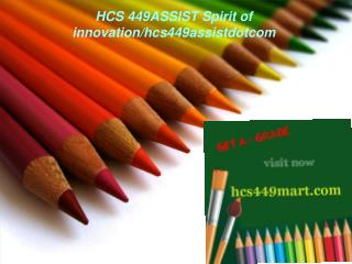 HCS 449MART Spirit of innovation/hcs449martdotcom