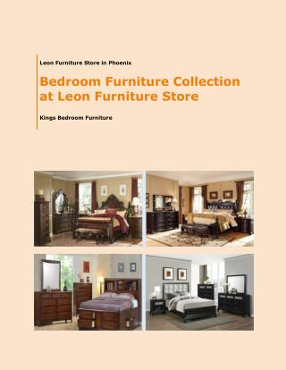 Bedroom Furniture Collection at Leon Furniture Store