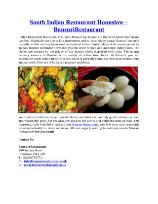 South Indian Restaurant Hounslow BansuriRestaurant