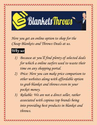 Top Deals In Blankets And Throws: Perfect Shopping Store To Shop Online