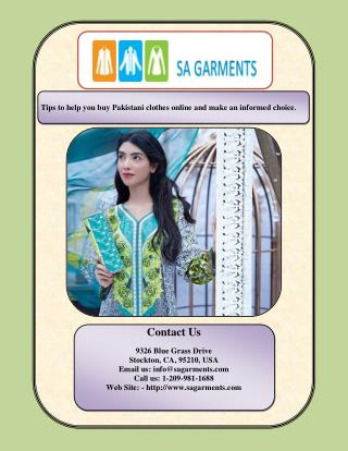 Tips to help you buy Pakistani clothes online and make an informed choice