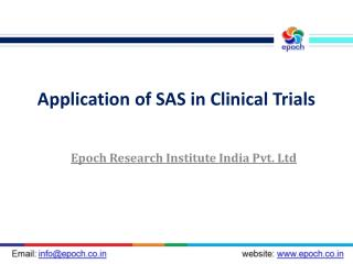 Clinical SAS Programming | SAS Training | Big Data | Hadoop | Business Analytics | Clinical SAS : Epoch Research Institu