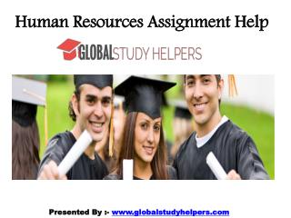 Human Resources Assignment Help in Australia from Experts