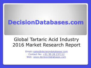 Global Tartaric Acid Market 2016-2021