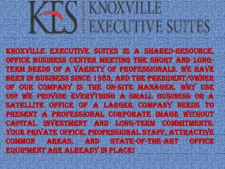 Office Space Rent Service in Knoxville