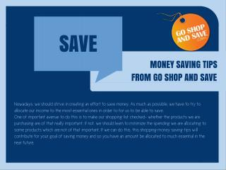Goshopandsave.com Money Saving Tips