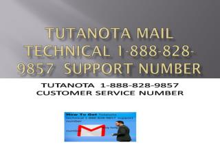Tutanota mail technical 1-888-828-9857  support number