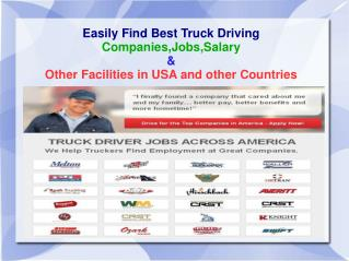 Easily Find Truck Drivers Jobs