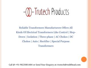 Isolation Transformer Manufacturers