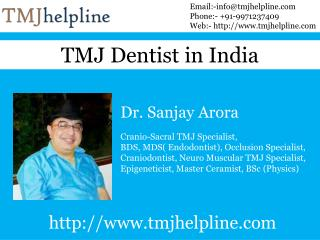 TMJ Dentist in India