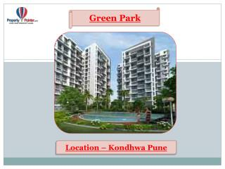 Green Park by Capricorn Group in Kondhwa Pune - 8888292222
