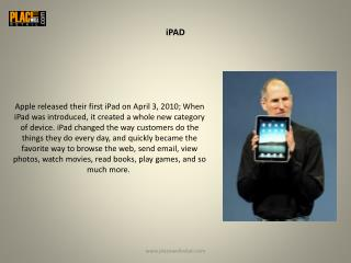 Apple Tablets | Apple iPad Tablets | Placewell Retail