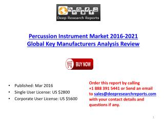Percussion Instrument Market Global and Chinese (Capacity, Value, Cost or Profit) 2021 Forecasts