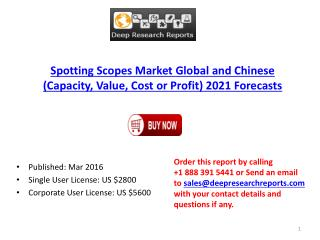 Spotting Scopes Market: Global Industry Size, Growth, Trends and 2021 Forecasts