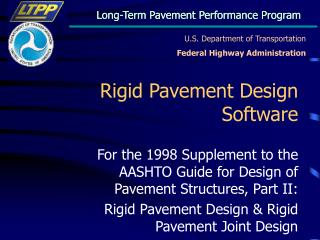 Rigid Pavement Design Software