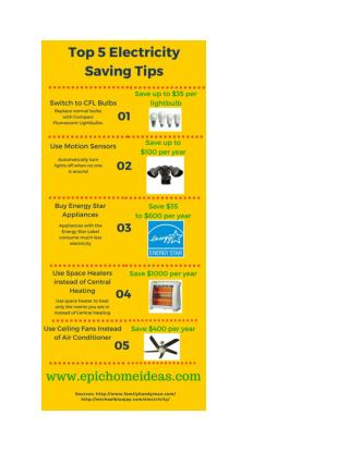 Top 5 Electricity Saving Tips