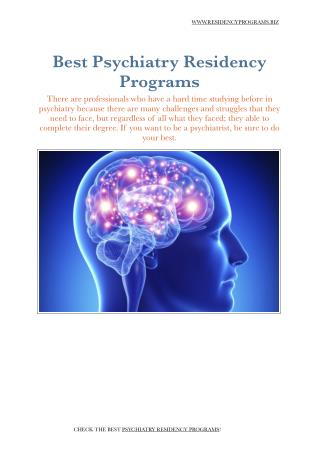Psychiatry Residency Programs
