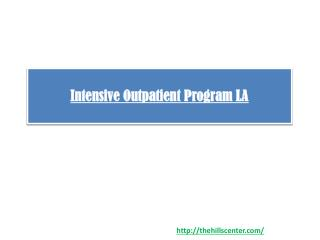 Intensive Outpatient Program LA
