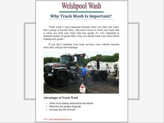 Why truck wash is important