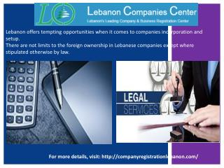 Company Registration Lebanon