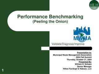 Performance Benchmarking Peeling the Onion