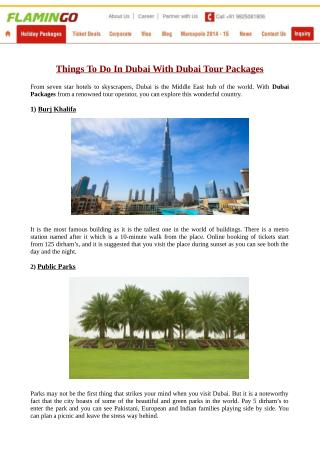 Which Places You Should Visit In Your Dubai Tour