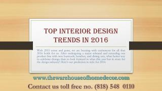 Top Interior Design Trends in 2016