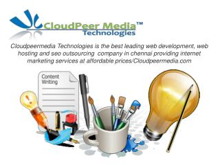 Best Seo outsourcing company ,Web Development in chennai/Cloudpeermedia.com