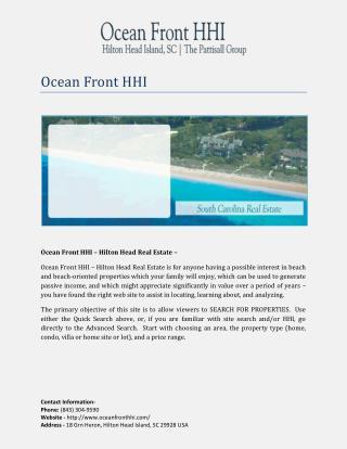 Ocean Front HHI