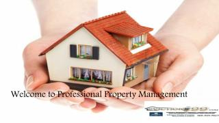 Welcome to Professional Property Management
