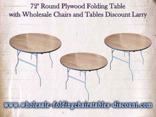 """72"""" Round Plywood Folding Table  - Larry Harvey"""