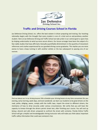 Traffic and Driving Courses School in Florida