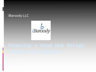 Choosing a Good Web Design Company in Lebanon - iBaroody LLC