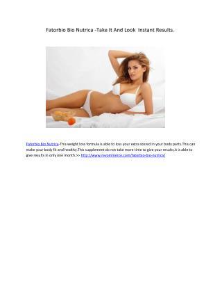 Make Your Figure Attractive With Fatorbio Bio Nutrica