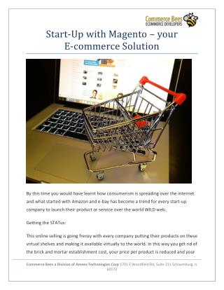Start-Up with Magento - your E-commerce Solutio