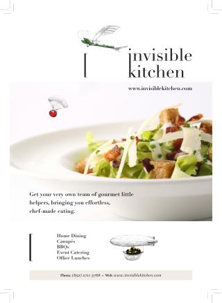 Invisible Kitchen Cooking Philosophy | Tom Burney | Catering Service Hong Kong