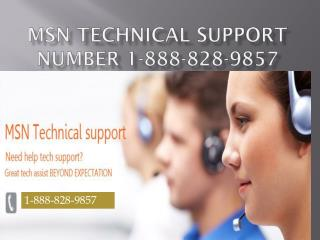 MSN Technical 1-888-828-9857 Support Phone Number