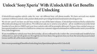 Unlock Sony Xperia with iUnlockAll & Its Benefits of Unlocking