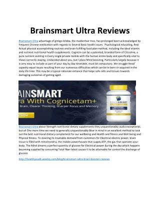 Brainsmart Ultra Reviews - Grow Your Mental Power